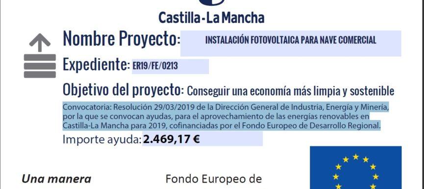 INSTALACIÓN 9,9 Kwp AISLADA EN C/EMILIO MOYA S/N.