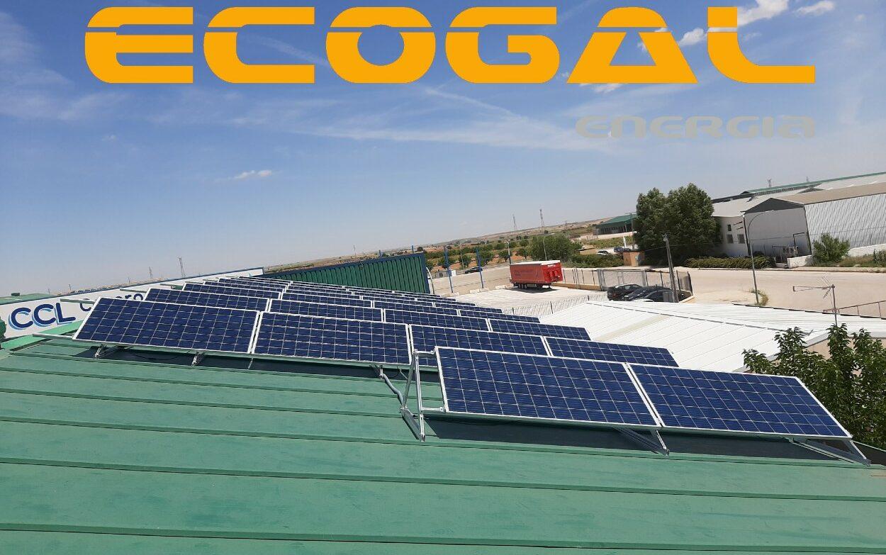 Instalación Placas Solares en San Clemente para Gráficas Madrid.