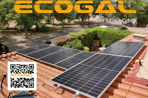 Instalación placas solares en Cabanillas del Campo (Guadalajara).