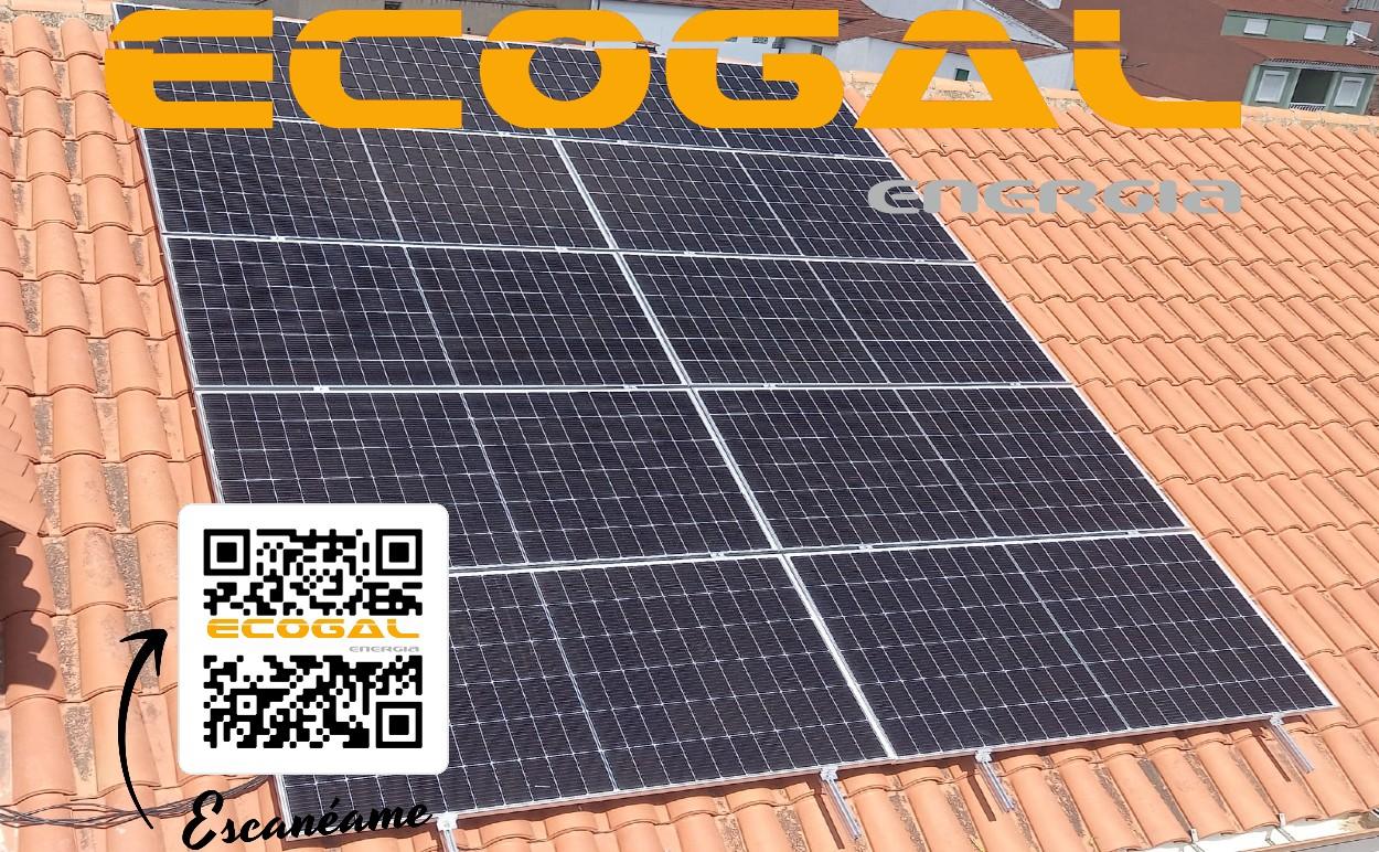 Vivienda con placas solares para calefacción en El Provencio.