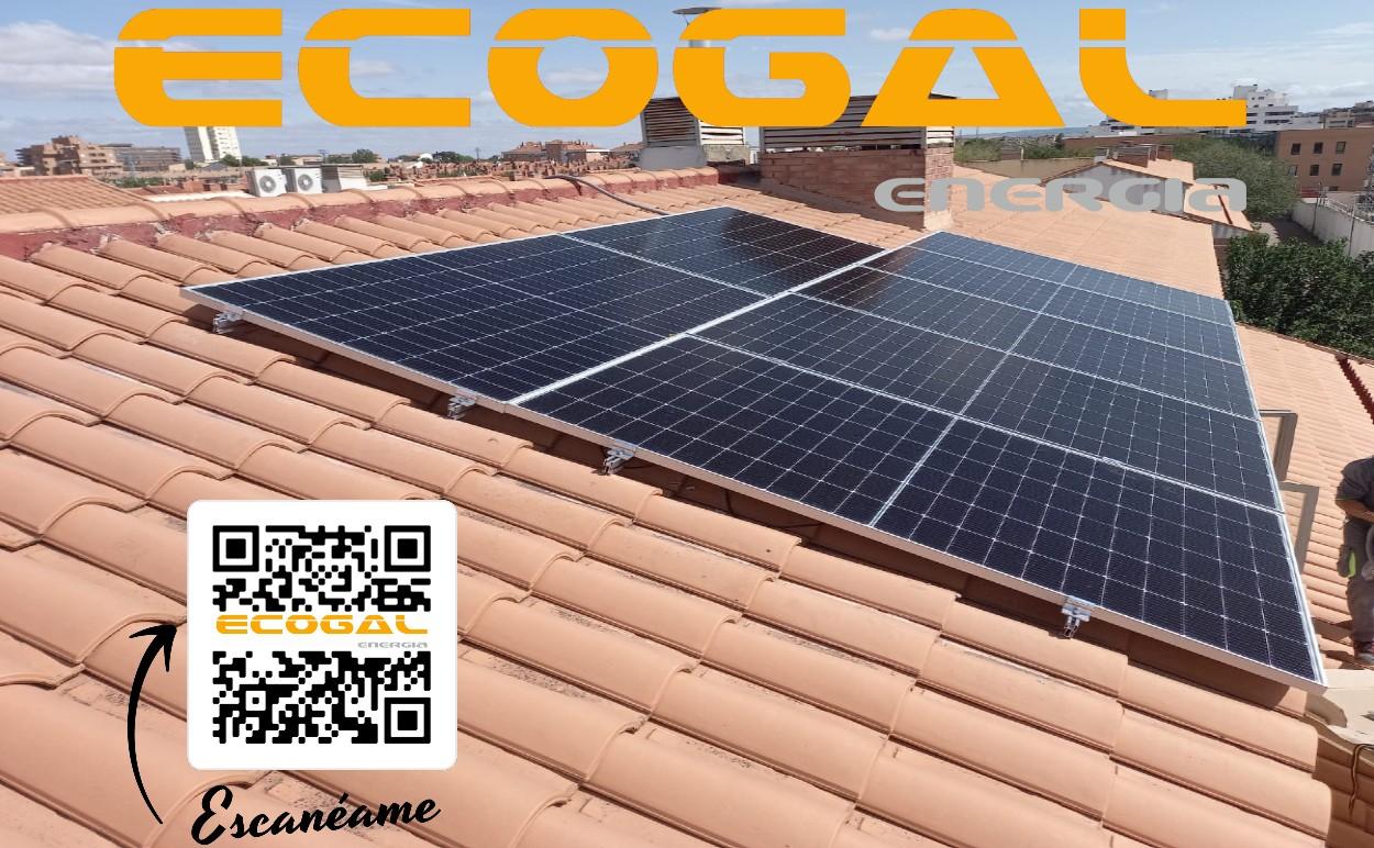 Instalación placas solares en vivienda unifamiliar de Albacete con baterías.