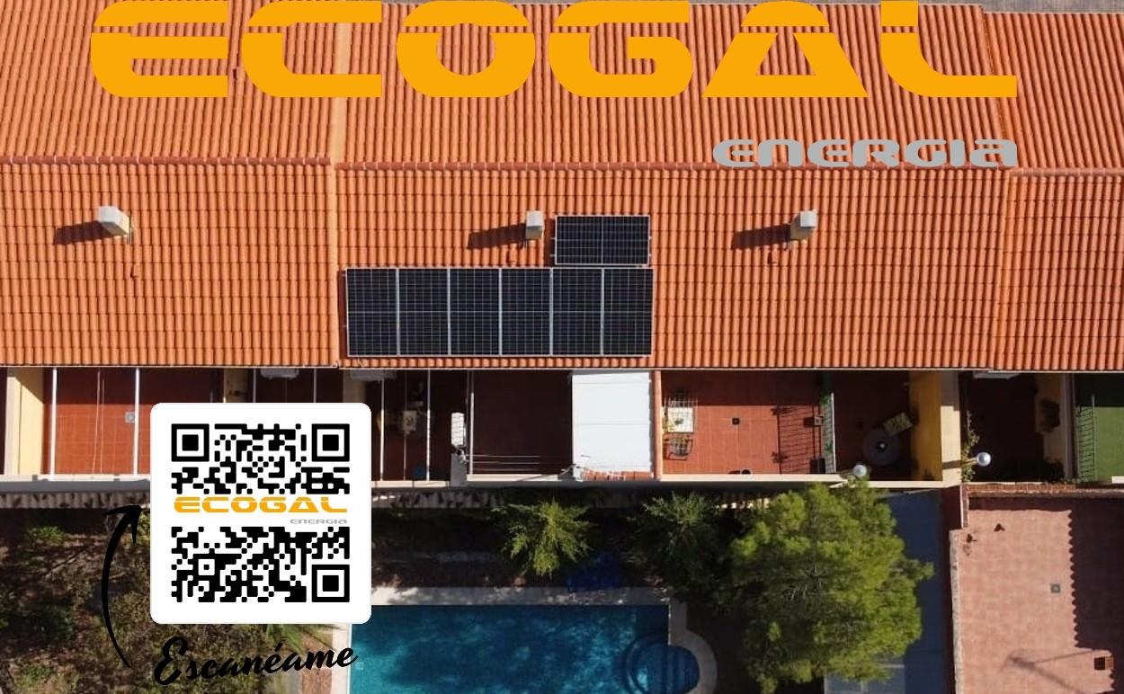 Placas solares para una vivienda en La Solana.
