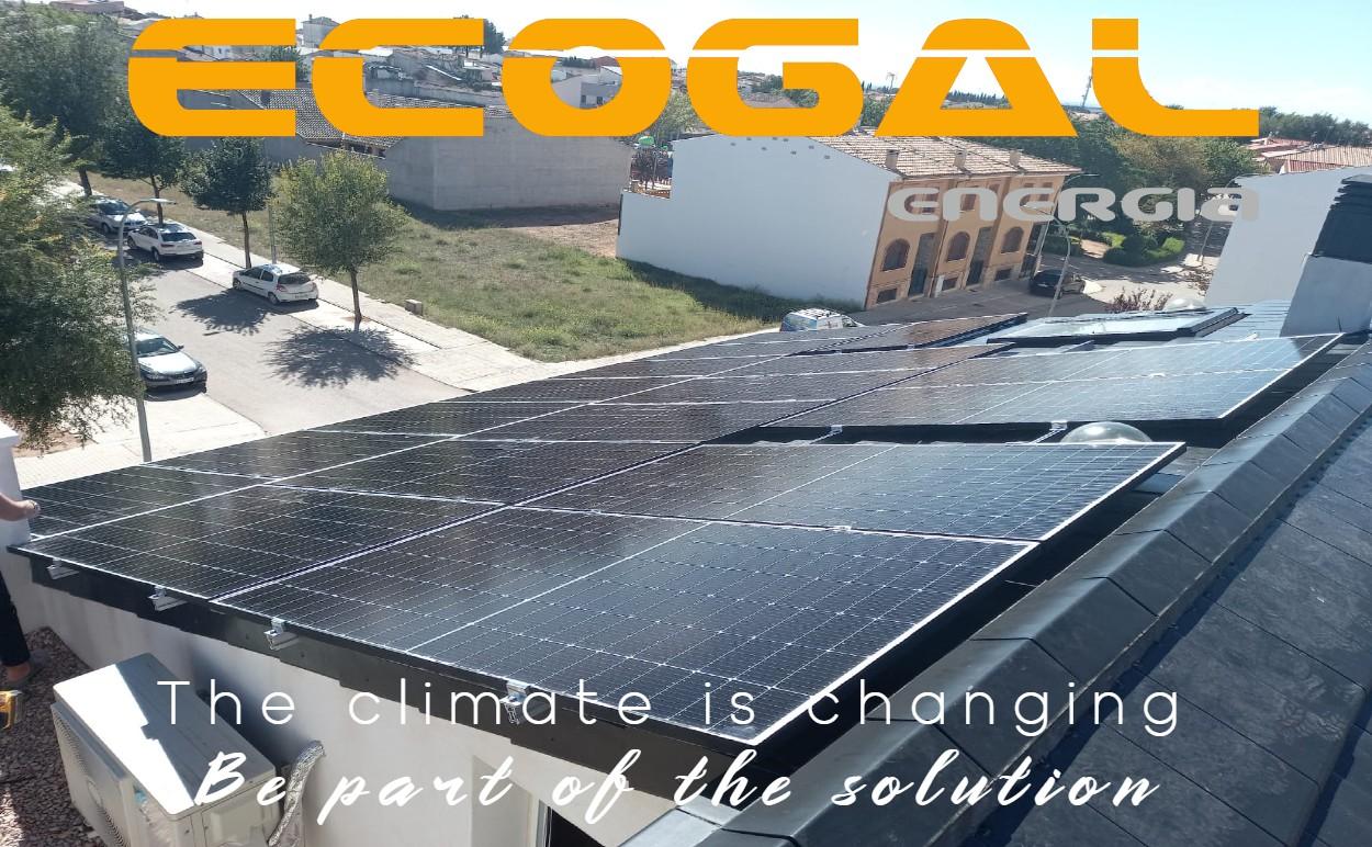 Casa en San Clemente en autoconsumo solar de 8,4 Kwp. Ecogal Energía.